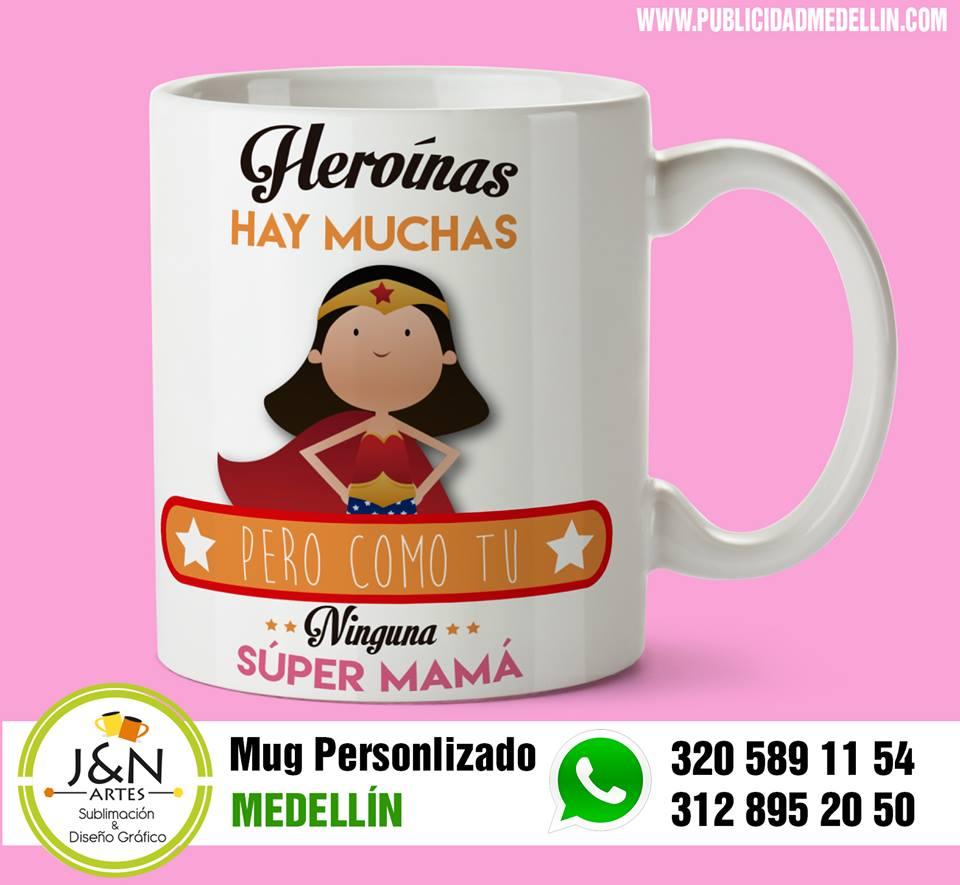 Mug dia de la madre en Medellin Super mama