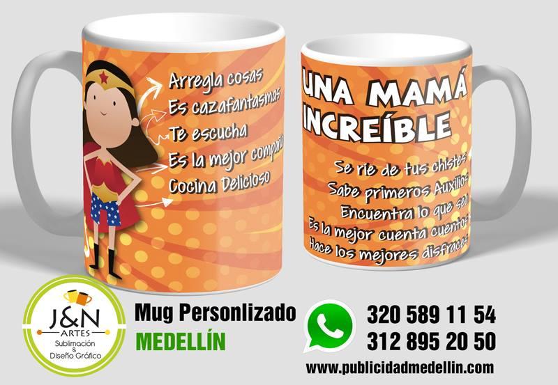 Mug Super mama en medellin