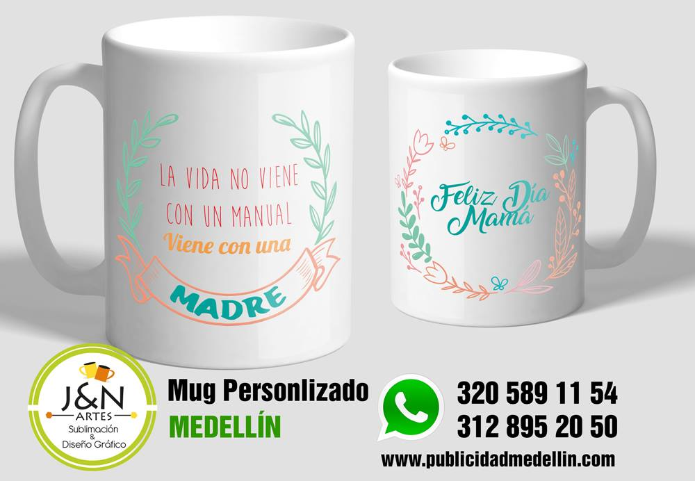 Mug dia de la madre en Medellin