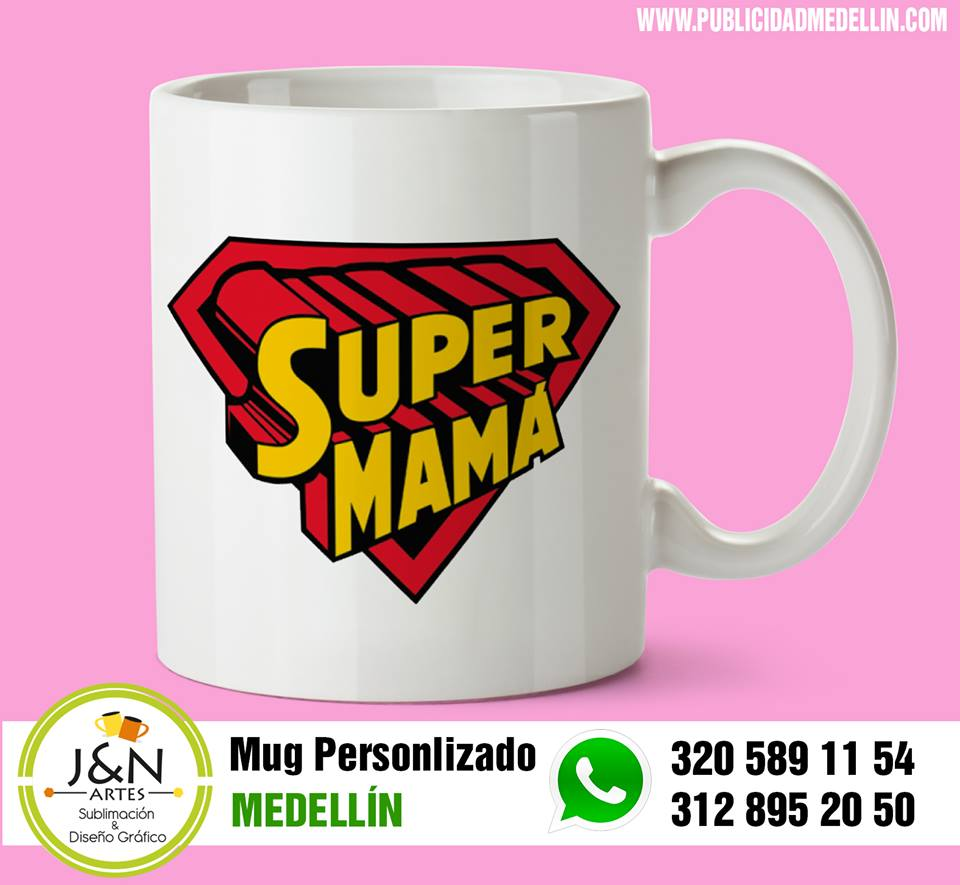 Mug Dia de madres en Medellin Super mama