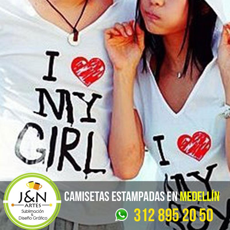 Camiseta-Estampadas-novios--Yo-amo-a-mi-novia-en-medellin