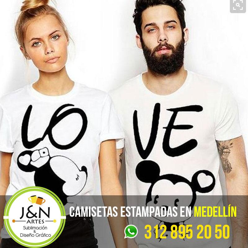 Camiseta-Love-en-medellin-pareja