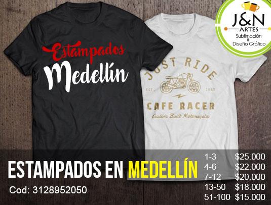 Camisetas Estampadas en Medellin
