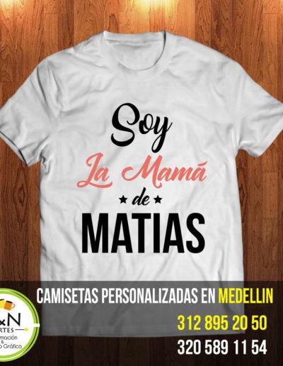 camiseta para mama personalizada medellin
