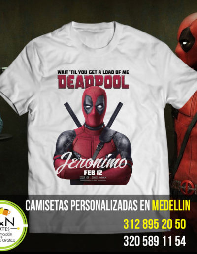 Camiseta Deadpool personalizada medellin