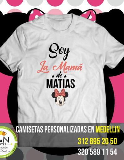 Camiseta Perosnalizada Cumpleaños mickey mouse