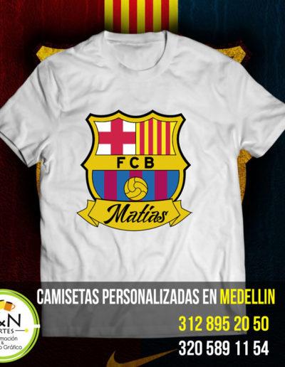 Camiseta Perosnalizada Cumpleaños Barcelona