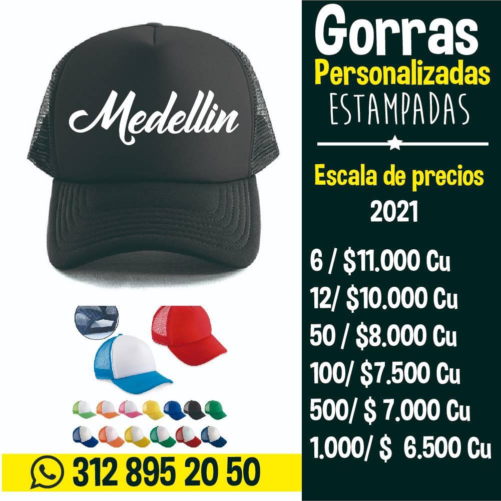 Gorras personalizadas en medellin al por mayor precios