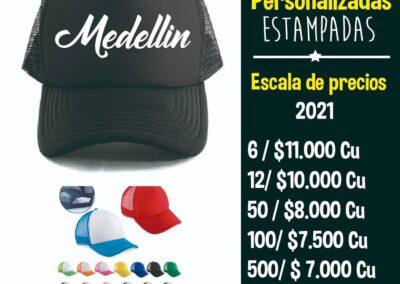 Gorras personalizadas en Medellín al por mayor