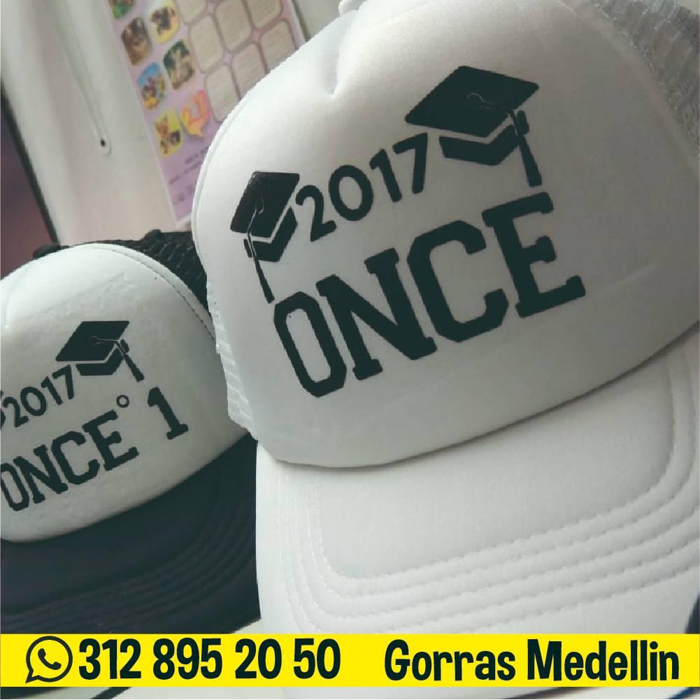 Gorras personalizadas en medellin al por mayor prom grado once blancas